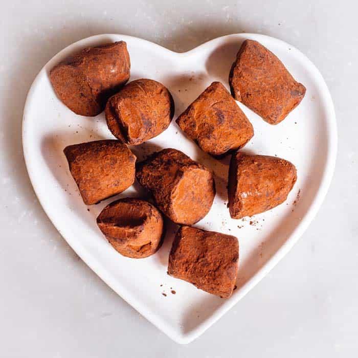 Cocoa Dusted Chocolate Truffles
